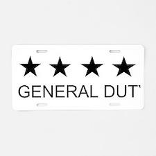 GENERAL DUTY Aluminum License Plate