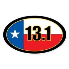 Texas Half Marathon oval sticker 13.1 miles