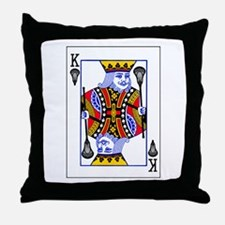 King of Lacrosse Throw Pillow
