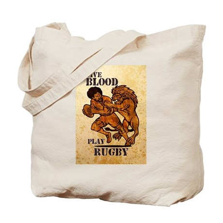 rugby player lion Tote Bag