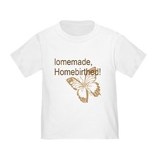 Homebirth Butterfly Brown T-Shirt