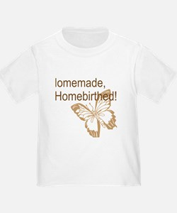 Homebirth Butterfly Brown T-Shirt