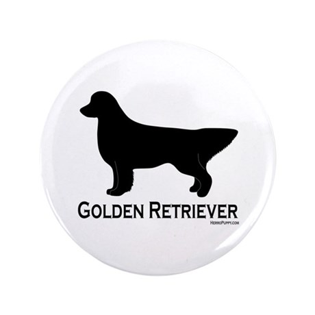 "Golden Retriever Silhouette 3.5"" Button"