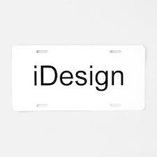 iDesign Aluminum License Plate