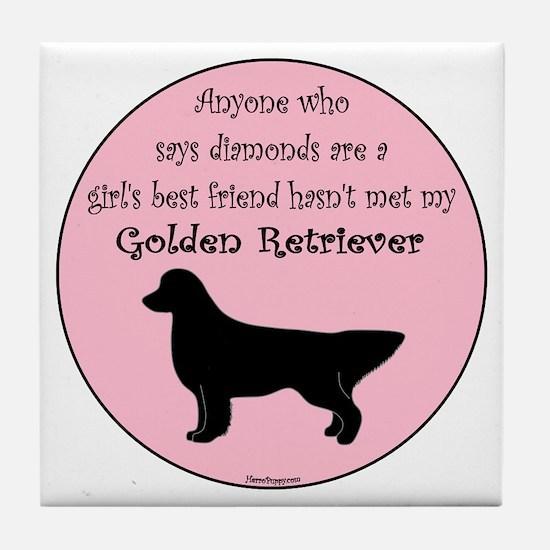 Girls Best Friend Tile Coaster