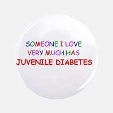 "Juvenile Diabetes 3.5"" Button"