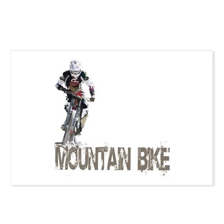 Mountain Bike Left Postcards (Package of 8)