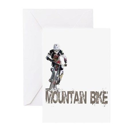 Mountain Bike Left Greeting Cards (Pk of 20)