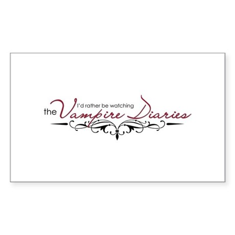 The Vampire Diaries Sticker (Rectangle)