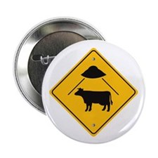 "UFO COW ABDUCTION / 2.25"" Button"