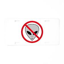 ANTI ALIEN / Aluminum License Plate