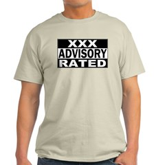 XXX Rated Advisory Ash Grey T-Shirt