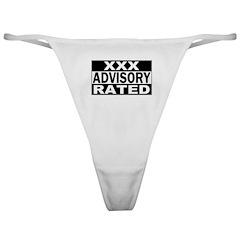 XXX Rated Advisory Classic Thong