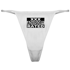 XXX Rated Advisory Classic Thong