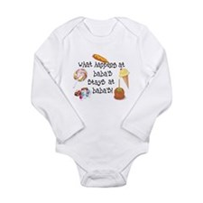What Happens at Baba's... Long Sleeve Infant Bodys