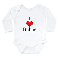 I Love (Heart) Bubbe Long Sleeve Infant Bodysuit