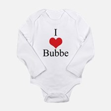 I Love (Heart) Bubbe Long Sleeve Infant Bodysuit