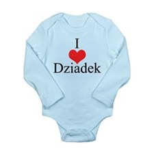 I Love (Heart) Dziadek Long Sleeve Infant Bodysuit