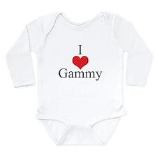 I Love (Heart) Gammy Long Sleeve Infant Bodysuit
