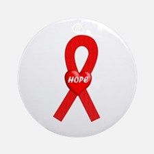 Red Hope Ornament (Round)