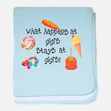 What Happens at Gigi's... baby blanket
