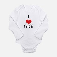 I Love (Heart) GiGi Long Sleeve Infant Bodysuit