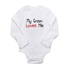 My Gram Loves Me Long Sleeve Infant Bodysuit