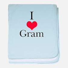 I Love (Heart) Gram baby blanket