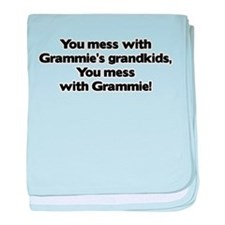Don't Mess with Grammie's Gra baby blanket