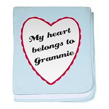 My Heart Belongs to Grammie baby blanket