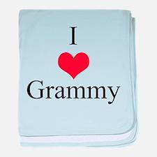 I Love (Heart) Grammy baby blanket
