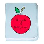 Apple of Gramps' Eye baby blanket