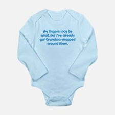 Grandma's Wrapped (blue) Long Sleeve Infant Bodysu