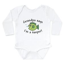 Grandpa Says I'm a Keeper Onesie Romper Suit