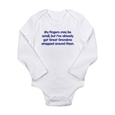 Great Grandma's Wrapped (blue) Long Sleeve Infant