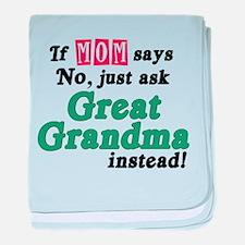 Just Ask Great Grandma! baby blanket