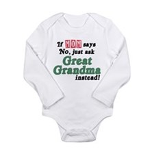 Just Ask Great Grandma! Long Sleeve Infant Bodysui