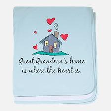 Great Grandma's Home is Where baby blanket