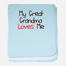 My Great Grandma Loves Me baby blanket