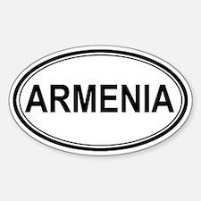 Armenia Euro Oval Decal