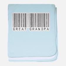 Great Grandpa Barcode baby blanket