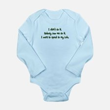 Want to Speak to Lola Long Sleeve Infant Bodysuit