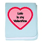 Lolo is My Valentine baby blanket
