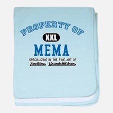Property of Mema baby blanket