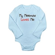 My Meemaw Loves Me Long Sleeve Infant Bodysuit
