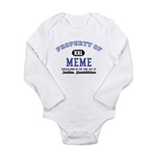 Property of Meme Long Sleeve Infant Bodysuit