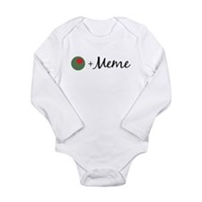 Olive Meme Long Sleeve Infant Bodysuit