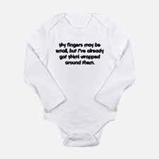 Mimi's Wrapped (black) Long Sleeve Infant Bodysuit