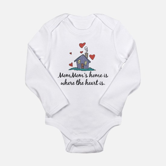 Mom Mom's Home is Where the H Long Sleeve Infant B