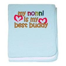 Nonni is My Best Buddy baby blanket